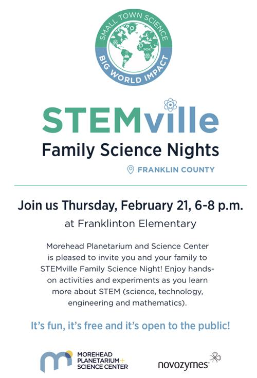 STEMville Family Science Night