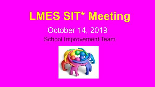 October SIT Meeting