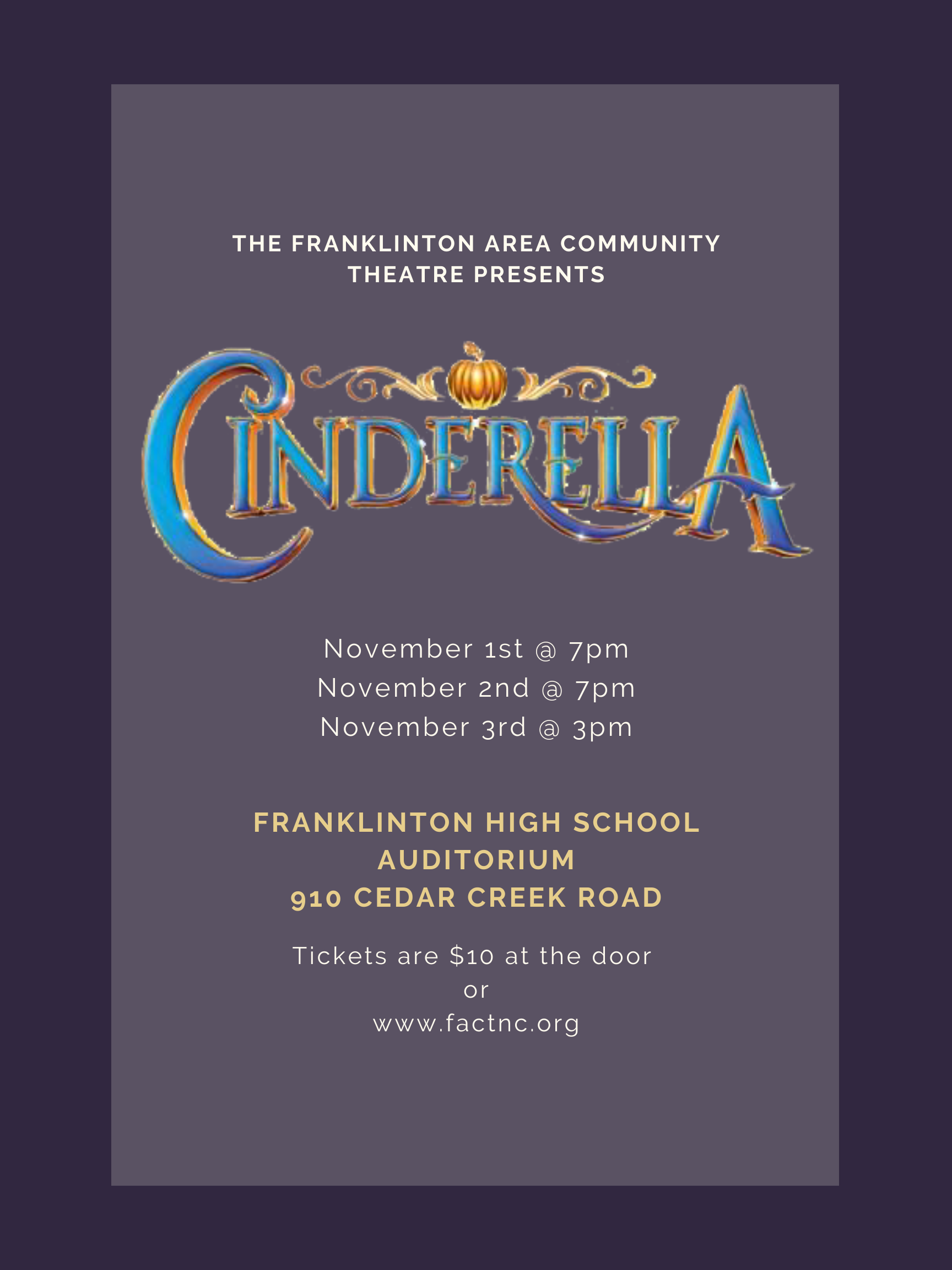 Join us for Cinderella!