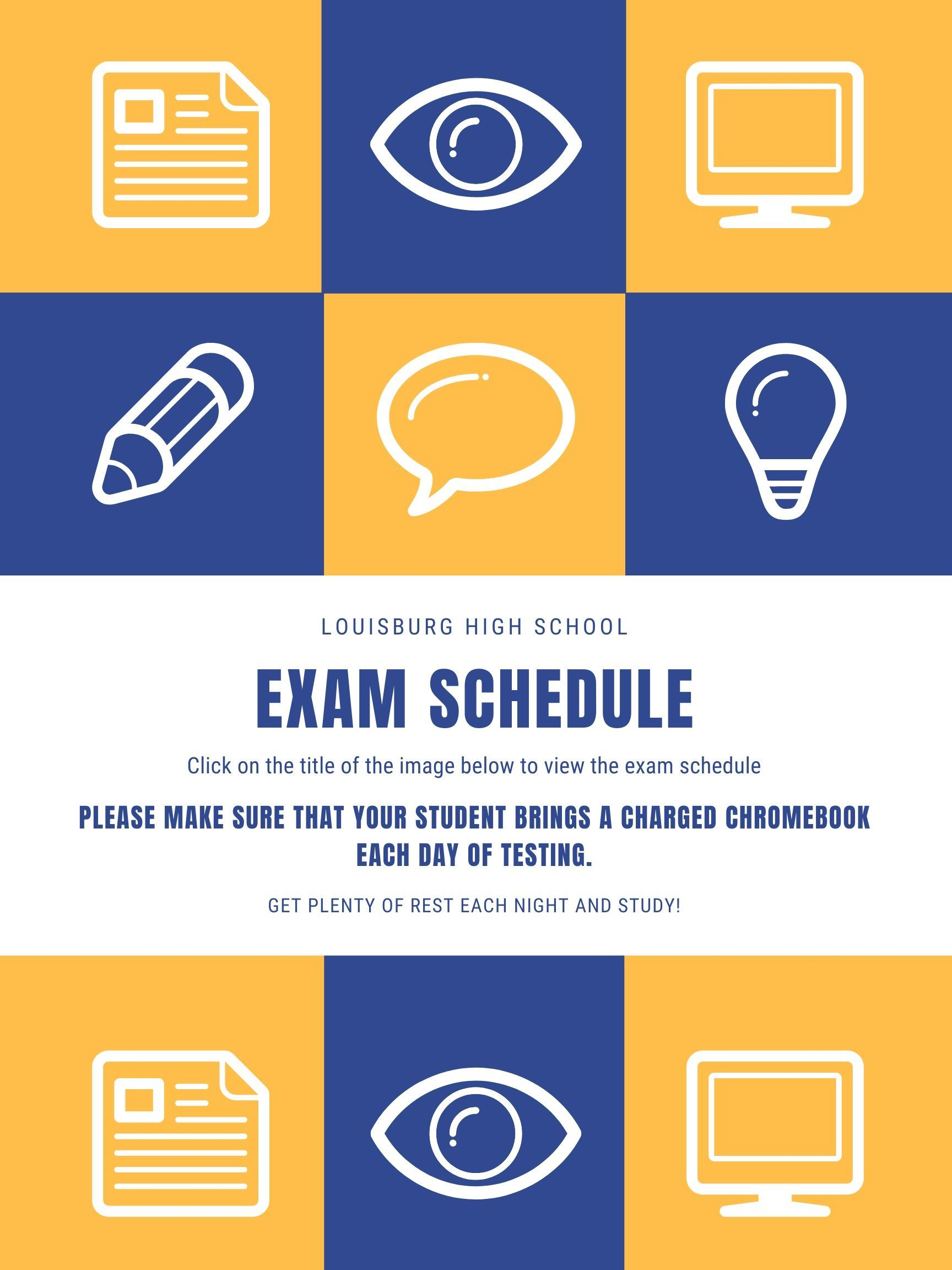 Exam Schedule - Fall 2019
