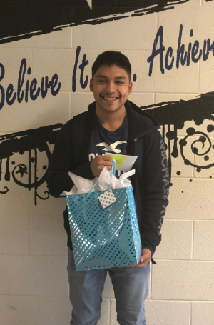 Student of the Month is Abel Contreras