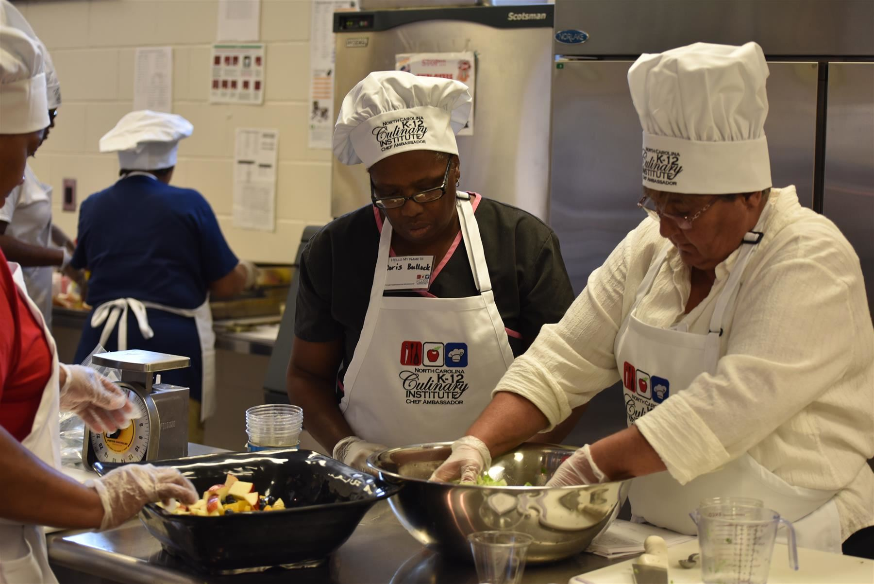 Classroom in the Kitchen: School Nutrition Managers Learn New Techniques