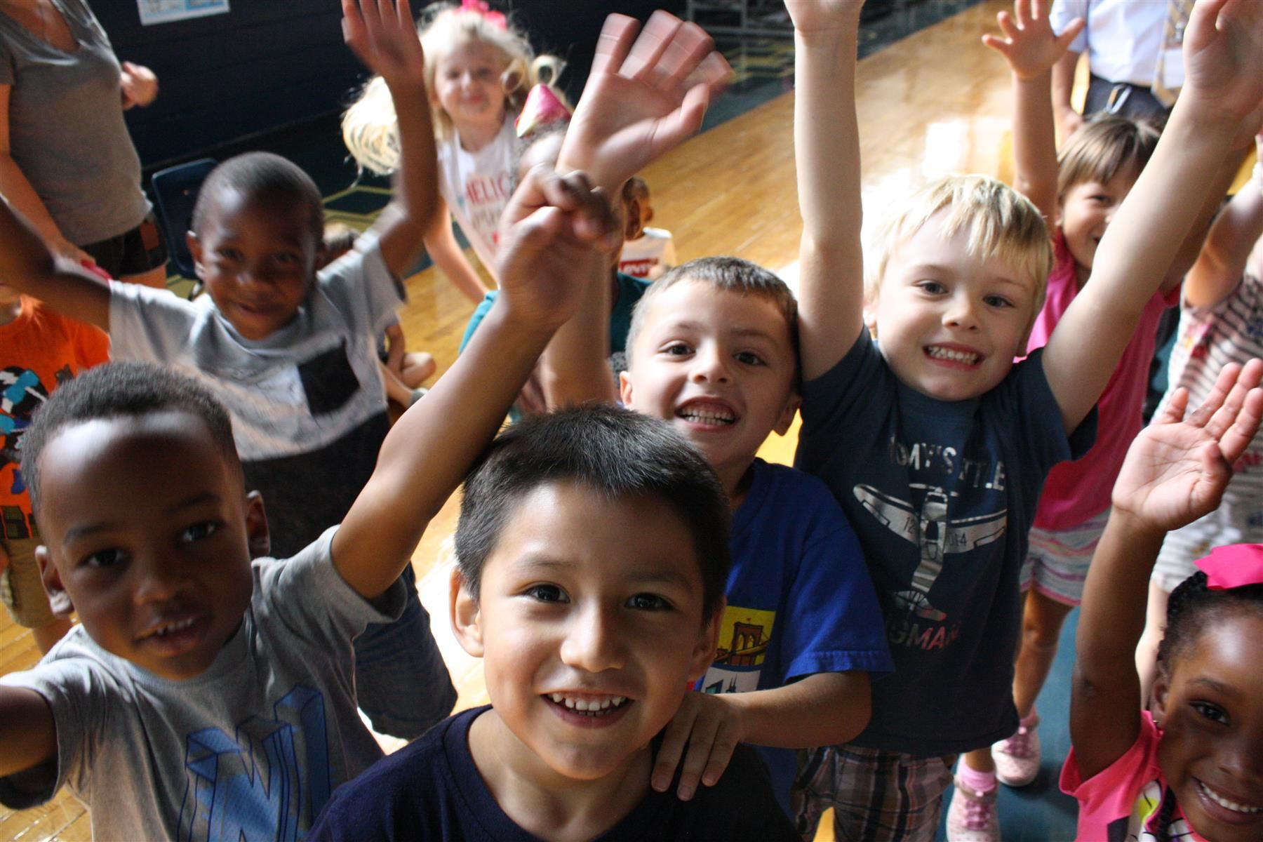 Pre-K Students show their excitement about kindergarten