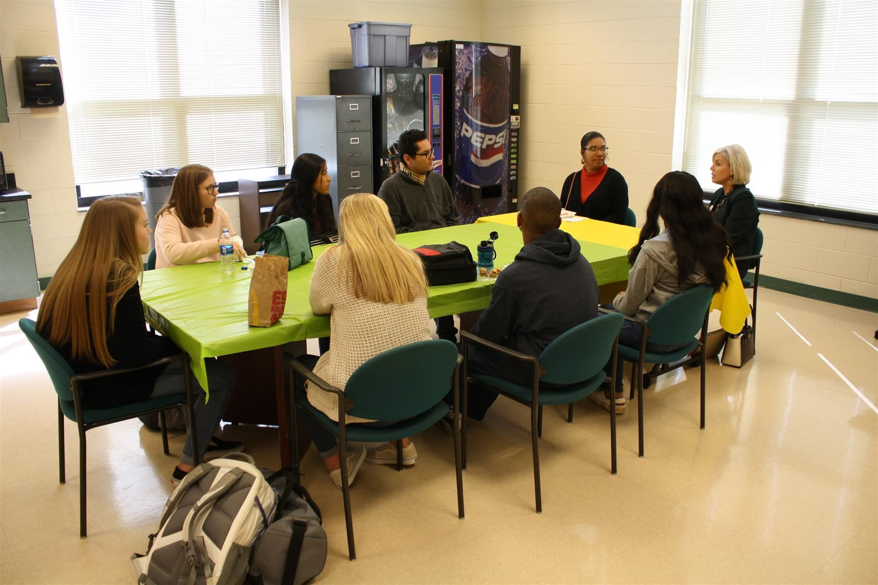 Bunn High School students sit down with superintendent