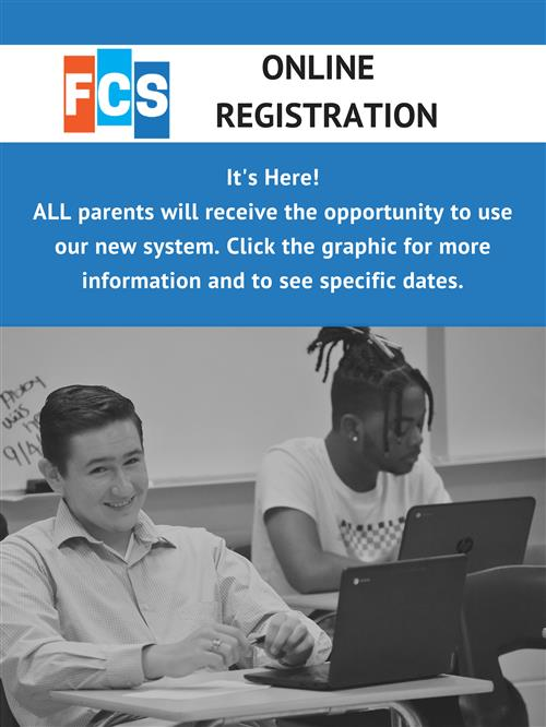 Online registration for parents.