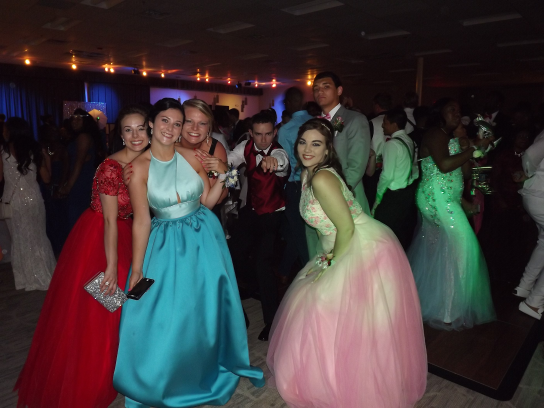 Louisburg High School students at prom.