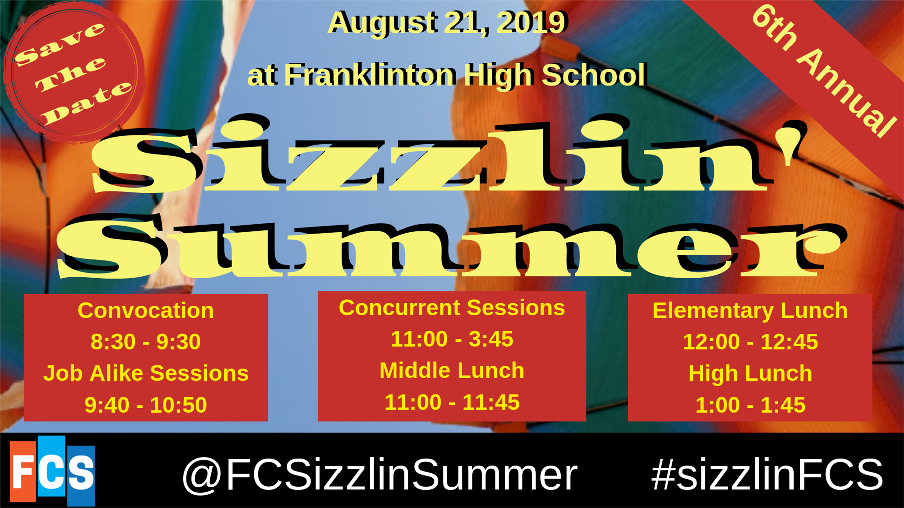 Convocation & Sizzlin' Summer_August 21st