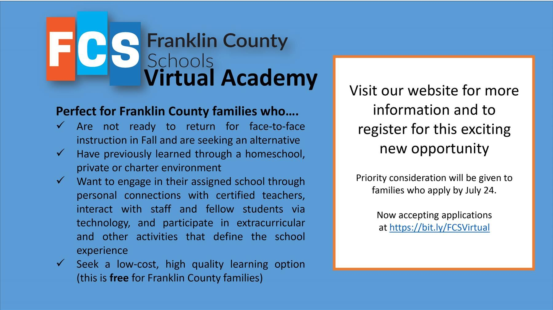 FCS Virtual Academy Application & FAQs