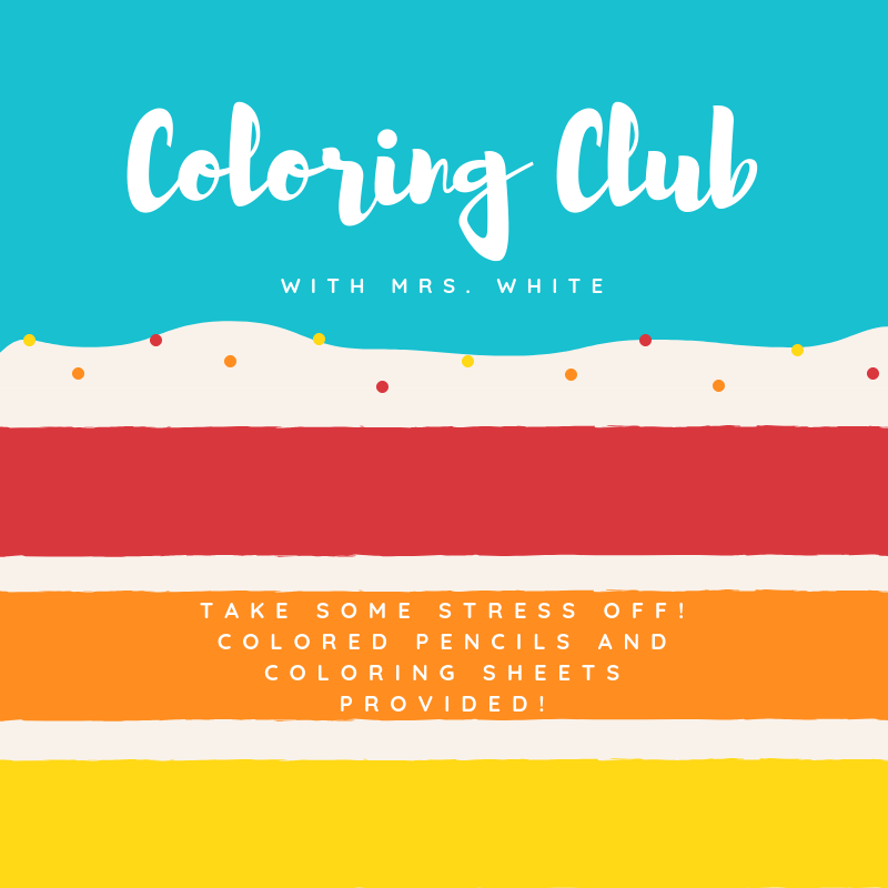 Coloring Club Flyer