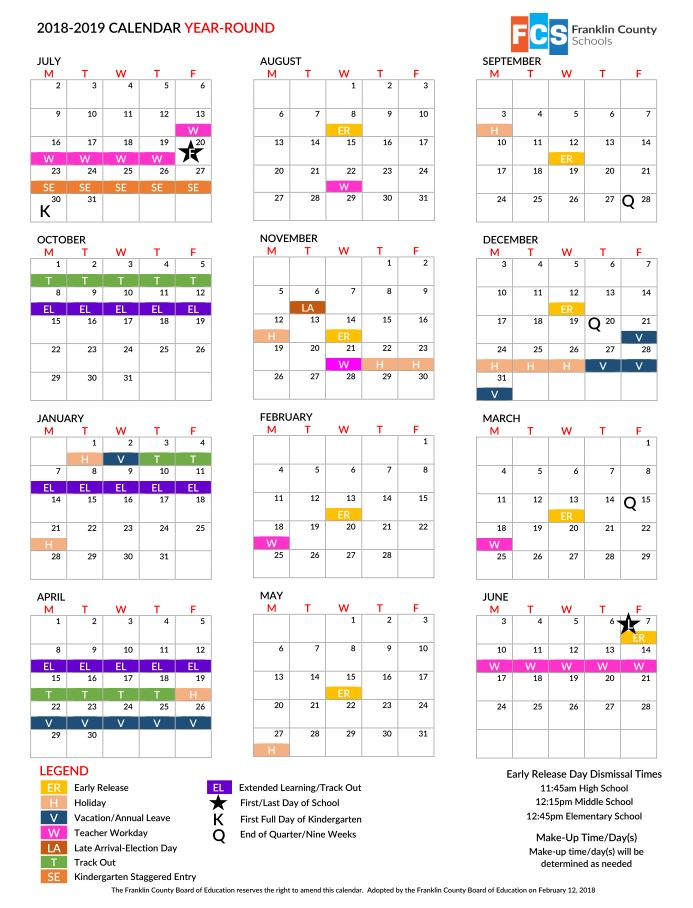 Year Round Calendar 2020 Board of Education / Calendars Approved by the Board