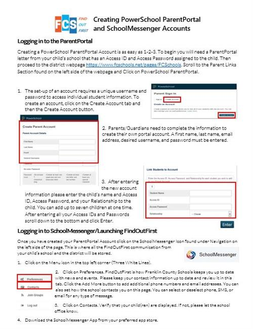 How to log onto the parent portal directions