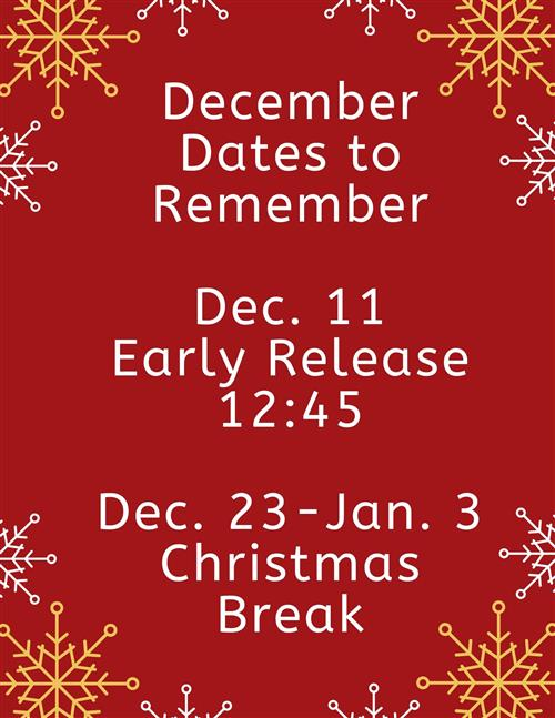 December dates to remember