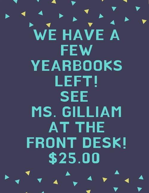 Buy at yearbook!