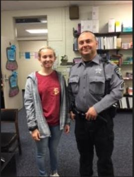 Grace Cottrell and Sgt Horton