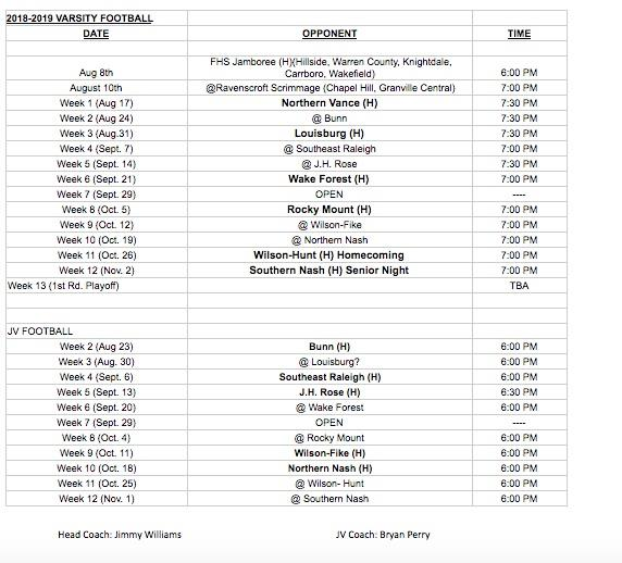 Athletics / Schedules